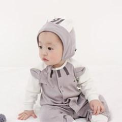 [메르베] 다람쥐 신생아 우주복/북유럽아기옷_사계절용_(1132917)