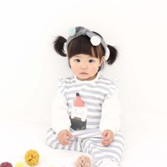 [메르베] 고양이 신생아 우주복/북유럽아기옷_사계절용_(1132914)