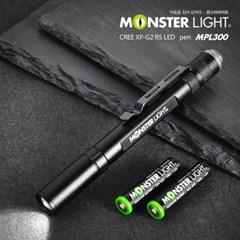 몬스터라이트 팬라이트 MPL300 미니후레쉬 LED손전등 LED랜턴