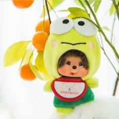 Kero Kero Keroppi x Monchhichi Big Head SS Mascot