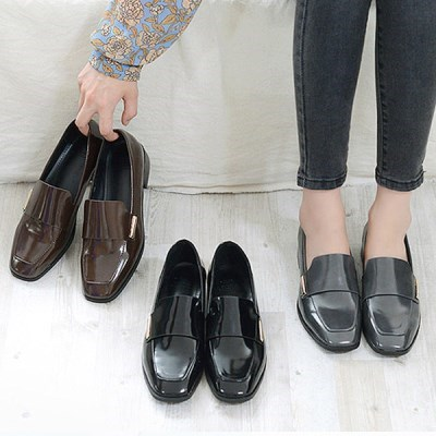 kami et muse Gold stick point enamel loafers_KM18w111