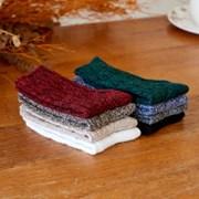 마일드 부드러운 촉감 꽈배기 패턴 멜란지 겨울양말