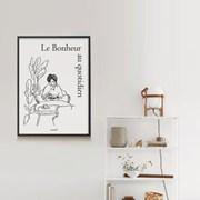 유니크 인테리어 디자인 포스터 M 일상의 행복 드로잉