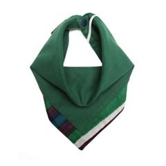 [peekaboo] 유아 스카프빕 Brushed French Green