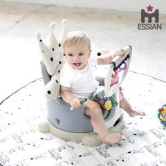 아기의자 양면커버_ 도트 크라운2종 세트 (아이보리)