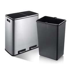 가정용 재활용 페달 분리수거함 휴지통 48L  쓰레기통