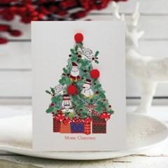 FS1030-3 크리스마스카드,트리,산타,성탄절,미니카드,루돌프