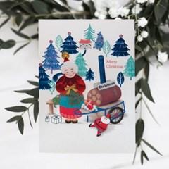 FS1029-4 크리스마스카드,트리,산타,성탄절,미니카드,루돌프