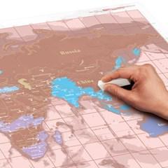 [럭키스] 영국 정품 스크래치 맵 세계지도 로즈 골드_(1449369)