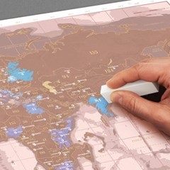 [럭키스] 영국 정품 스크래치 맵 세계지도 로즈 골드 (_(1449368)