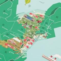 [럭키스] 영국 정품 스크래치 맵 세계지도 미국 랜드마_(1449365)