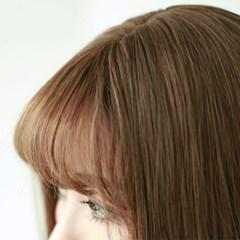 네추럴 시스루뱅 인조 앞머리 붙임머리가발