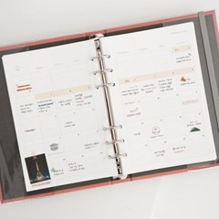 Der reisende 6h Refill - 1.Yearly, Monthly Planner