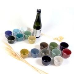 파스텔 17color 예쁜 도자기 소주잔 특이한 이쁜 술잔