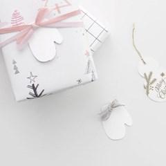 하얀 장갑택(10개)
