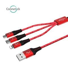 커네틱 3in1 C타입,8핀,5핀 케이블 CC3-11