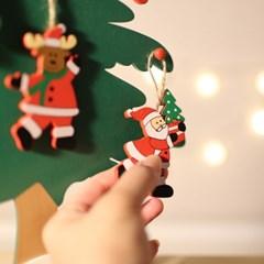 크리스마스 파티 이벤트 장식소품 탁상 목각트리 46cm_(895980)
