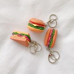 햄버거&샌드위치 키링