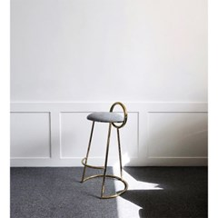 Hoop Bar Stool _ Light gray (Gold frame)