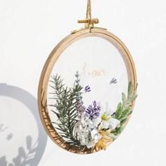 꽃과 자수로 만드는 홈데코 소품 - 볼륨플라워 투명자수액자 DIY KIT