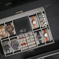 명품 손목시계 8포켓 수납보관 주얼리 보석함 케이스_(897214)
