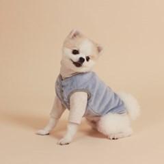 Reversible Vest / Gray & Blue