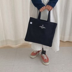 slowstitch mini canvas bag
