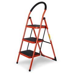 접이식 사다리 계단형 2단 3단 4단 (레드) 하중90kg