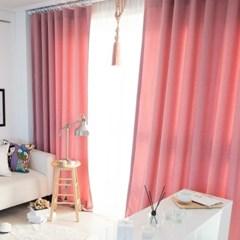 노블레스 암막커튼(핑크)