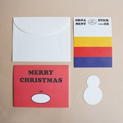 DIY CHRISTMAS CARD (RED/GREEN)