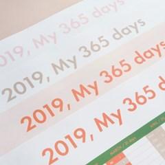 2019 My 365 days Calendar 365일 달력
