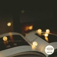LED 3M 투명앵두usb전구 (8패턴점멸)_(611021)
