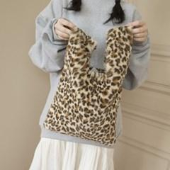 leopard fur eco bag