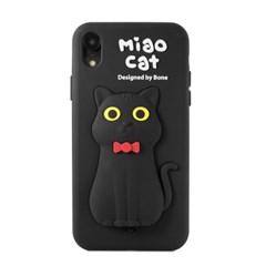 본컬렉션 큐케이스 고양이 아이폰 XR 실리콘 케이스