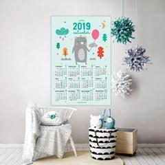 [퍼니즈] 2019 포스터형 풍선곰 달력 / 포스터 캘린더