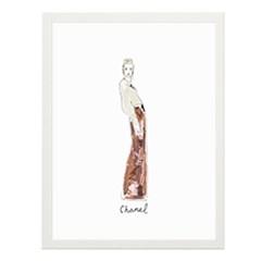 Chanel Inspired Fashion illustration 일러스트 포스터 (액자판매)