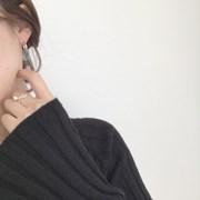 [클래식 무광 미니 링 귀걸이] 딜리아니 이어링