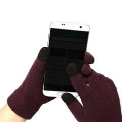 무료배송/포장가능 스마트터치 소프트 포인트 니트장갑 5컬러