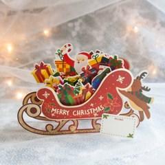 디원 크리스마스 루돌프썰매카드(JX08)