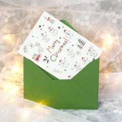 디원 크리스마스 진저쿠키 레터프레스 카드(YX33)