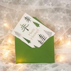 디원 크리스마스 트리 레터프레스 카드(YX31)
