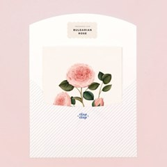 BOTANICAL SCENTED CARD – BULGARIAN ROSE