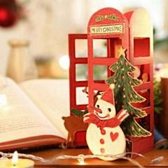 디원 크리스마스 산타전화박스카드(YX02)