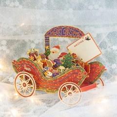 디원 크리스마스 산타마차입체카드(YX01)