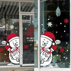 제제데코 크리스마스 눈꽃 스티커 장식 CMS4J106_(847471)