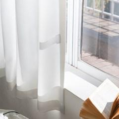 화이트 창문 암막커튼 (작은창커튼)