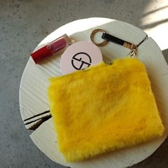 Fur Pouch Yellow