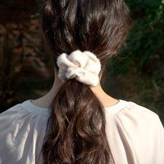 calf skin scrunchie (5colors)