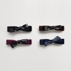 calf skin ribbon pin (4colors)