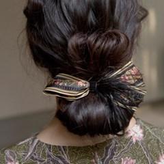 antique plume ribbon pin (3colors)